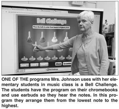 Music teacher with technology