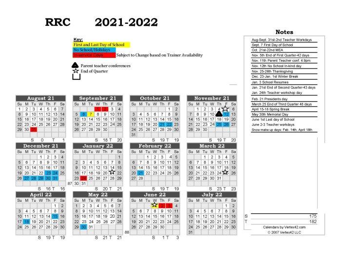 2021-21 Academic Calendar