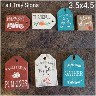 fall tray signs