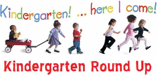 kindergarten round up, kids walking to school